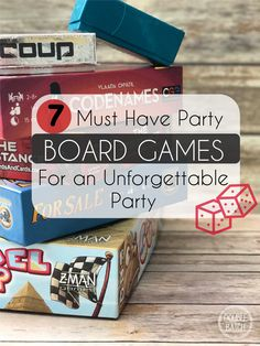 If you're looking for some new and exciting games to change things up a little check out these 7 tried and true must have party board games!
