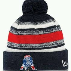 03efaee3f5590 Details about New England Patriots New Era knit pom hat 2014 AUTHENTIC Tom  Brady Throwback
