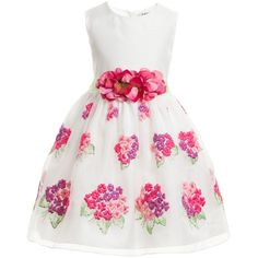 For my baby, White Dress, Floral Embroidery