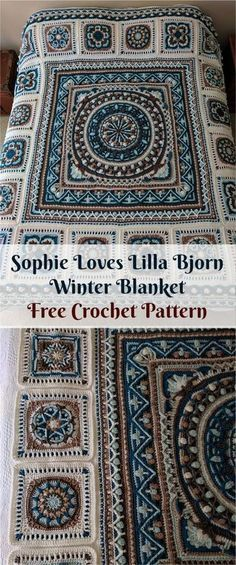 """Sophie """"Loves Lilla Bjorn"""" Winter Blanket [Free Crochet Pattern]"""