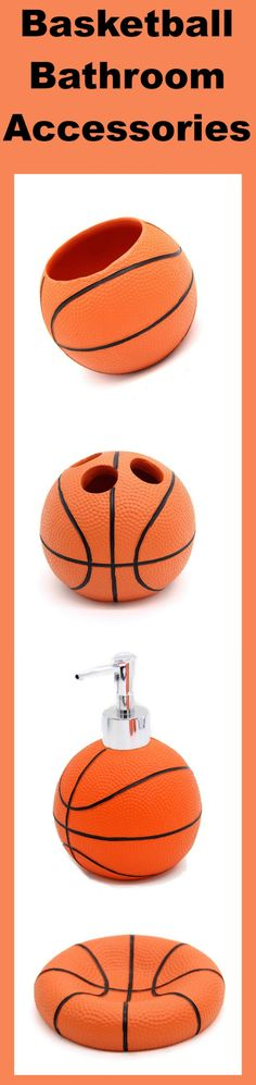 Charmant Basketball Bathroom Accessories 5 Piece Collection Set Review | Bathroom  Accessories