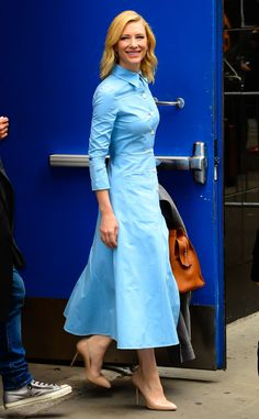 Cate Blanchett from The Big Picture: Today's Hot Pics  A vision in blue: The Oscar winner attends Good Morning America in NYC.