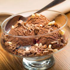 Rezept um Low Carb Schokoladeneis selber zu machen - ein einfaches Eisrezept für kalorienarme, kohlenhydratarme und gesunde Eiscreme.
