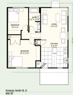 77621e1d90cb24b6dab81b678584b35c bathroom floor plans corner windows 900 sq ft house plans 900 square feet, 2 bedrooms, 1 batrooms,Small House Plans 900 Sq Ft