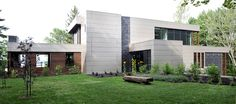 LEMAYMICHAUD | INTERIOR DESIGN | ARCHITECTURE | QUEBEC | RESIDENTIAL | La Villa des gros pins Villa, Interiores Design, Quebec, Architecture Design, Garage Doors, Outdoor Decor, Plants, Home Decor, Landscape