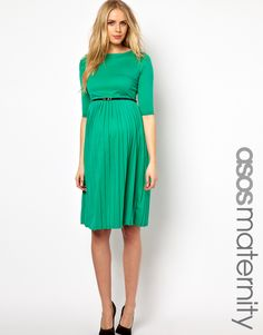 Maternity Midi Dress With Pleated Skirt - why did it have to be a MATERNITY dress?