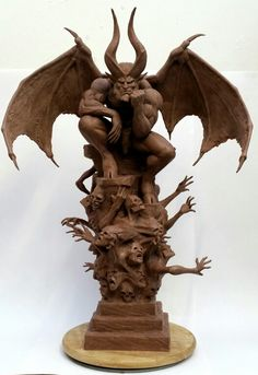 Monster Clay sculpt based on artwork by Simon Bisley's Paradise Lost
