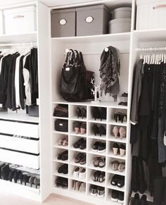 Gorgeous, organized walk-in closet.