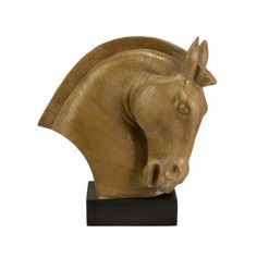 Regency Horse Statue    Our Regency Horse Statue is a powerful statue that will add elegance to any side table or desk in your home. Depicting the powerful strong and lithe animal this piece boasts a beautiful horse's head with a chic black base. This statue exclusively designed by R. Francel Goude is sure to become a favorite piece in your home.