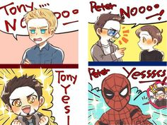 #Stony #SteveRogers #CaptainAmerica #TonyStark #IronMan #PeterParker #Spiderman #Superfamily