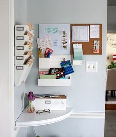 Hi Sugarplum | Family Command Center using Martha Stewart Wall Organizer by hi sugarplum!, via Flickr