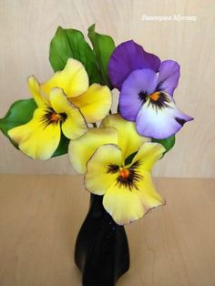 sugar flowers pansy