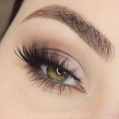 a very soft/subtle smokey eye using only nude colours. The eyelashes used aren't too volumised, and are the perfect length, again making the look very natural and pure. Also, the eyebrows are filled in just nicely, not too harsh or dark, so that it doesn't draw all the attention from the rest of the face.