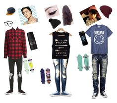 """Ready for the day with... 1. Kian Lawley, 2. You, 3. Jc Caylen"" by brendonurierules on Polyvore featuring Topman, Original Penguin, Old Navy, Converse, Vans, Lacoste and Burton"