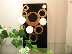 Hermoso collar de bronce, cobre y acrílico $150.000 (conj15)(mm)