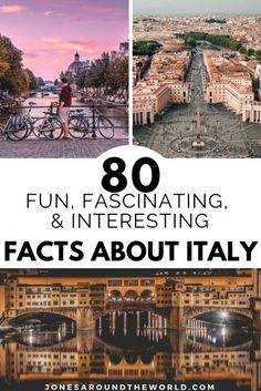 80 Fun, Fascinating, & Interesting Facts About Italy // Jones Around The World -- #travelguide #travelitinerary #traveltips #travelitaly #italianadventure