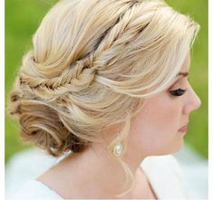 Fishtail Braid UpDo for Homecoming, Prom, Wedding