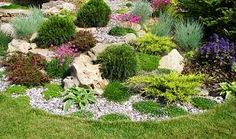 "Képtalálat a következőre: ""meredek sziklakert"" Front Garden Landscape, Front Yard Landscaping, Landscape Design, Garden Design, Garden Angels, Yard Art, Garden Projects, Exterior Design, Outdoor Gardens"
