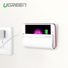 Sostenedor del soporte de pared, ugreen titular de teléfono universal cargador de teléfono soporte para iphone ipad mini tablet para samsung xiaomi cargador de montaje