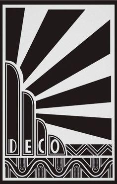 Art Deco Fountain Mesh Stencil Art Deco Design Art