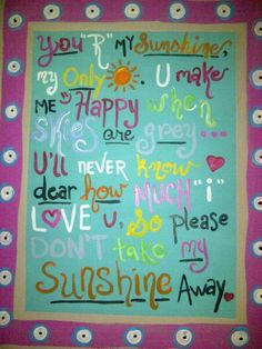 You are My Sunshine by AgapeArtisan on Etsy, $45.00