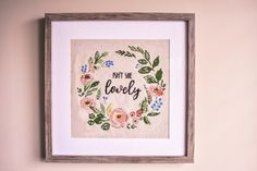 A wonderful cross-stitch project for a little one's nursery. So meaningful.