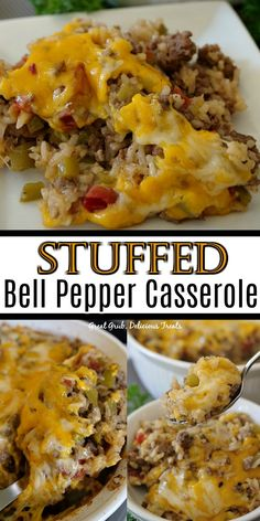 Beef Casserole Recipes, Easy Casserole Dishes, Stuffing Casserole, Sausage Recipes, Meat Recipes, Stuffed Pepper Casserole, Stuffed Pepper Recipes, Cooking Recipes, Diet