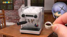 DIY Dollhouse items - Miniature Espresso Machine. I made miniature espresso machine for dollhouse. ミニチュアエスプレッソマシン作り カフェのドールハウス用にLACIMBALI風のミニチュアエスプレッソマシンを作って...