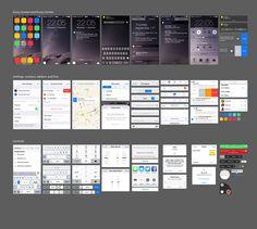 Apple iOS 8 Tüm Sayfalar UI Kit PSD Tasarımları | Freebies Themes | Ücretsiz Temalar ve Tüm Web Tasarım Malzemeleri | Freebies Themes And All Design Materials