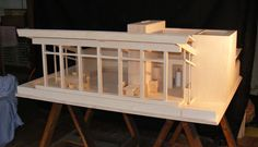 Architectural Model of the Seth Peterson Cottage, constructed for Milwaukee Art Museum's Frank Lloyd Wright Exhibition 2010. (Russian birch, with James Mattea)
