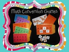 These Math Conversions Manila Envelope Games make for great math center activities! Also a great way to teach common core standard CCSS. Math Strategies, Math Resources, Math Activities, Math Worksheets, Math Games, Teaching Time, Teaching Math, Maths, Teaching Ideas