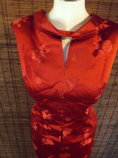 Vintage 60s Red Wine Cheongsam Mad Men style two by Calliopegirl, $46.00