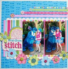 stitch scrapbook layout