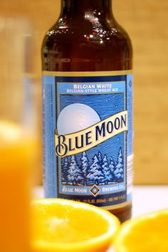 Not dark but a good white alternative Blue Moon Beer...Belgian-style white wheat ale with an orange slice | A { 5-star } favorite.