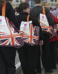 Customers with Shopping Bags by J Sainsbury, via Flickr