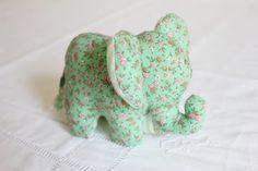 DIY Doudou Éléphant {avec patron} – Les Enchantées Elephant Stuffed Animal, Sewing Stuffed Animals, Stuffed Animal Patterns, Cat Template, Elephant Pattern, Elephant Nursery, Baby Art, Sewing Toys, Cat Design