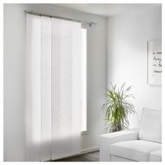 IKEA - LILLERÖD, Panel curtain, A panel curtain is ideal to use in a layered window solution, to divide rooms or to cover open storage solutions.You can cut the panel curtain to the desired length without hemming it. At Home Furniture Store, Modern Home Furniture, Affordable Furniture, White Curtains, Curtains With Blinds, Ikea Panel Curtains, Small Space Interior Design, Interior Design Living Room, Panel Blinds