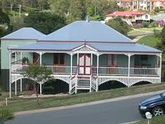 Image result for traditional queenslander house colours