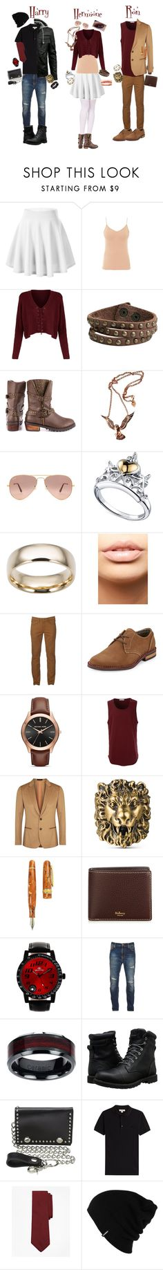 """Untitled #44"" by slytherinravenclaw on Polyvore featuring Hanro, Zad, Penny Loves Kenny, Hjälte Jewellery, Ray-Ban, Disney, Fremada, MDMflow, Urban Pipeline and Original Penguin"