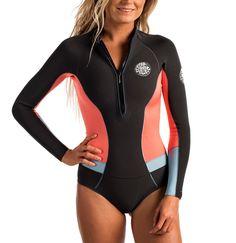 5f3d85a79e G Bomb Long Sleeve Spring Hi Cut Wetsuit Womens Spring Suit Wetsuits  Springsuits Rip Curl