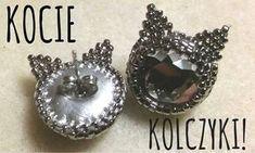 Kocie kolczyki DIY (Cat Earrings) - Haft koralikowy [TUTORIAL]   Qrkoko.pl