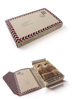 I like this box design because it has a Vintage parcel design on it, and can be easily assembled into a box, as if it is a parcel to be delivered. In my opinion I find this package design to be very appealing in aesthetics.