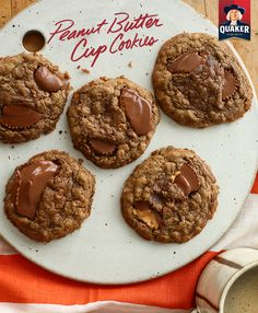If you need one more reason to love  Quaker® Oatmeal, try these delicious, chocolatey Peanut Butter Cup Cookies. They cook in under 15 minutes and make 3 dozen servings–the perfect treat for a school bake sale, an after dinner dessert, or late-night snack ;)