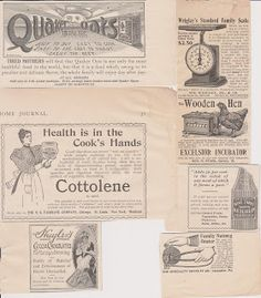 Free Vintage Clipart, Vintage Magazine Ads and Vintage Artwork Perfect for Home & Man-Cave Decor: Vintage 1898 Food & Cooking Related Advertising Clipart Part I - Free to use on your website or blog