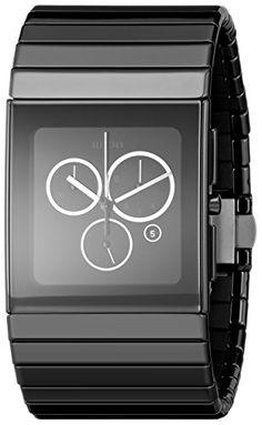 Rado Men's R21714152 Ceramica Black Dial Ceramic Chronograph Watch