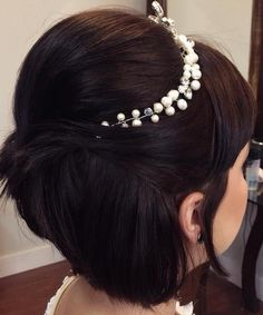 Wedding+Half+Updo+For+Short+Hair