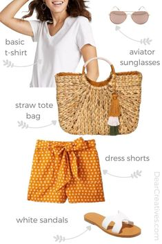 Summer Outfit Ideas - What To Wear - Cute outfit ideas for summer. BOGO sales happening right now! Cute Outfits With Shorts, Short Outfits, Short Dresses, Summer Outfits, Casual Outfits, White Sleeveless Blouse, Summer Pants, Fashion Deals, Cute Tshirts