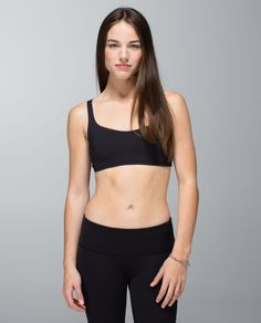 We designed this bra for the small-busted Hot yoga enthusiasts among us. The moisture-wicking fabrics can handle serious sweat, and the low-cut front gives sticky skin room to dry off quickly. The open back has straps with loops that move with us as we twist so we can focus on our form without fiddling.