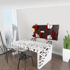 Home Office Desk Modern Models Studio Furniture, Steel Furniture, Diy Furniture, Modern Home Office Desk, Modern Desk, Office Table Design, European Furniture, Railing Design, Furniture Inspiration