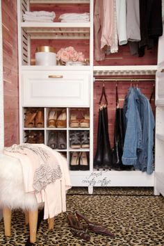 Your closet doesn't have to be just a place to store your clothes. It can be a place that inspires you when you get ready for the day. Try to decorate it just as you would any other space in your house, and it'll put a smile on your face when you walk in.